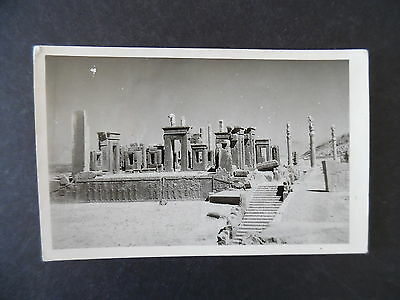 RP Postcard Ancient Ruins Used from Iran to US 1960s
