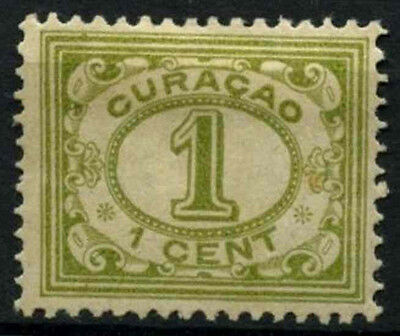 Curacao 1915-33 SG#70, 1c Olive Green P12.5 MH #D43810