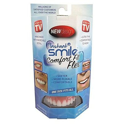Instant Smile Comfort Fit Flex Teeth Top Cosmetic Veneer One Size Fits All NEW