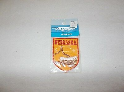 Vintage Voyager State of Nebraska sew on travel souvenir embroidered patch new
