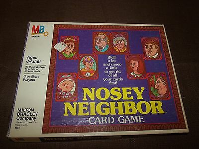 Vintage 1981 Milton Bradley Nosey Neighbor Card Game Complete
