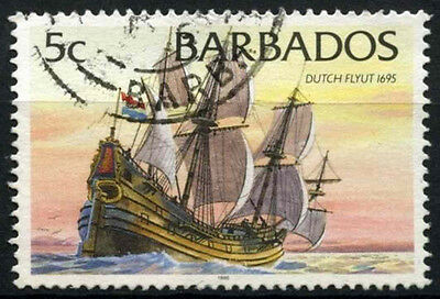 Barbados 1996 SG#1075 5c Ships Definitive 1996 Imprint Date Used #D43153