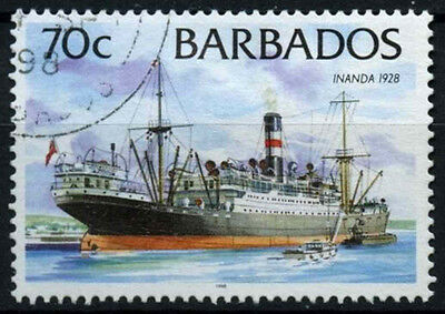 Barbados 1994-98 SG#1037B 70c Ships Definitive 1998 Imprint Date Used#D43146