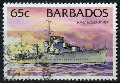 Barbados 1994-98 SG#1036A 65c Ships Definitive No Imprint Date Used #D43148
