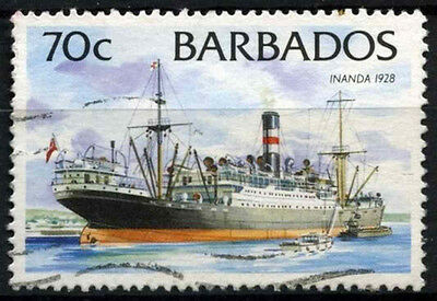 Barbados 1994-98 SG#1037A 70c Ships Definitive No Imprint Date Used #D43149