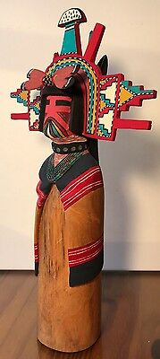 "Kachina Hopi ""Shalako"" Signed by R. Duwyenie 12"""