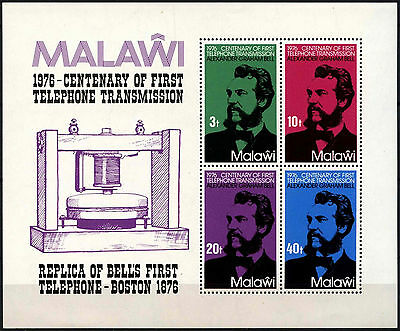 Malawi 1976 SG#MS524 Telephone Centenary MNH M/S Sheet #D42767