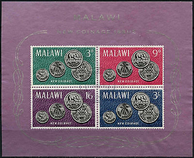 Malawi 1965 SG#MS235a Coinage Coins Used M/S #D42662
