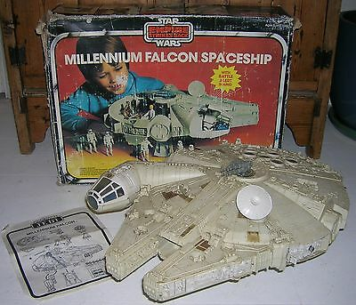 Boxed Vintage Star Wars Millennium Falcon Palitoy + Instructions