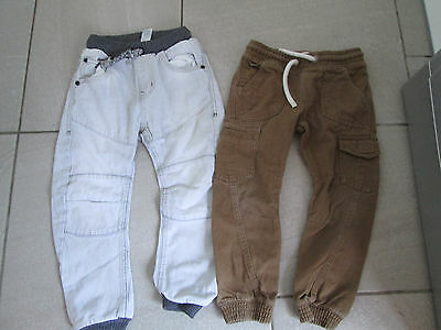2 pairs of boys casual trousers age 4-5