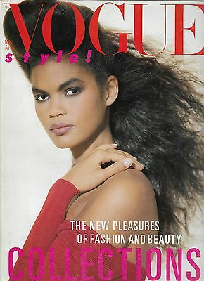 Fashion & Style UK VINTAGE VOGUE Magazine MARCH 1986 COLLECTIONS 410 pages RARE