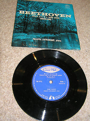 "7"" single BEETHOVEN 'MOONLIGHT' Philippe Entremont, piano"