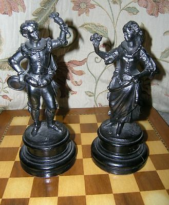 A Romantic Pair of  Victorian Spelter Figures