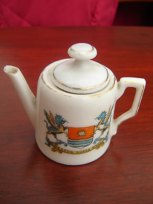 Vintage Gemma Crested China Teapot Tea Pot Weston Super Mare - Retro / Chic