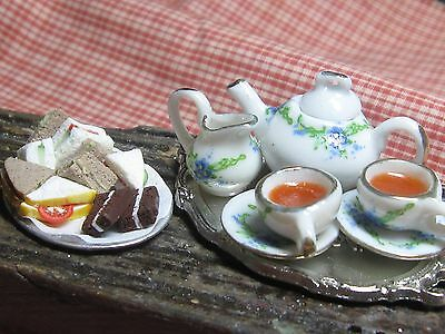 12th scale dollhouse dolls house food~ Afternoon tea for two~ by redclegg