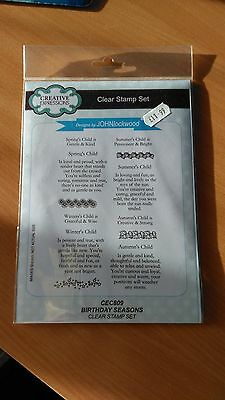 Creative Expressions Clear Stamp Set By John Lockwood - Birthday Seasons