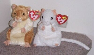 CHEEZER AND PELLET Ty Beanie babies Baby MINT WITH MINT TAGS