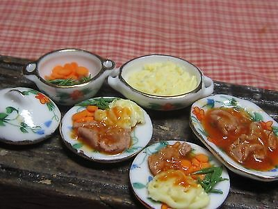 12th scale dollhouse dolls house food~liver and onions ~ by redclegg