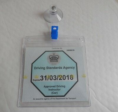 Universal Ticket License Permit Badge Holder Reusable Holder 2 X Quick Releases