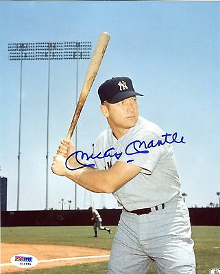 Mickey Mantle Signed 8x10 Photograph New York Yankees (PSA/DNA)