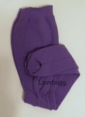 Purple Tights for 18 inch Doll Clothes American Girl , Bitty Baby , Kidz n Cats