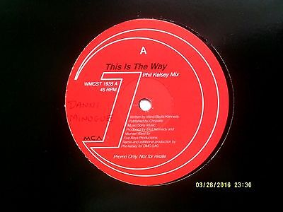 "Dannii Minogue This Is The Way 12"" Promo Single N/mint"