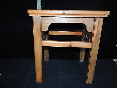 Antique Chinese Carved Wooden Stools/Display Stands
