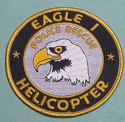 Eagle 1  Helicopter  Police Rescue  Police Patch  Very Nice!!   Free Shipping!!!
