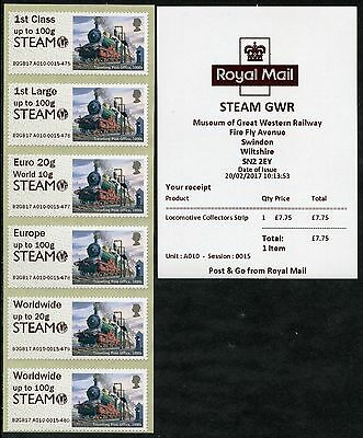 NEW SWINDON STEAM GWR MUSEUM +LOGO NO SWINDON175 LOCO COLL SET 1st DAY POST & GO