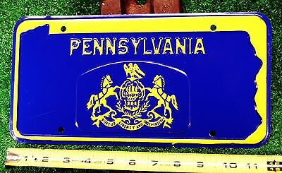 PENNSYLVANIA - 1960s OFFICIAL GOVT vehicle, beautiful front license plate w/env