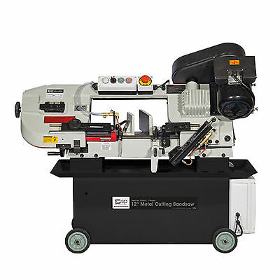 SIP 01595 305mm 12 Metal Cutting 4 Sp Tilting Bandsaw 400v 1.5Hp band saw steel