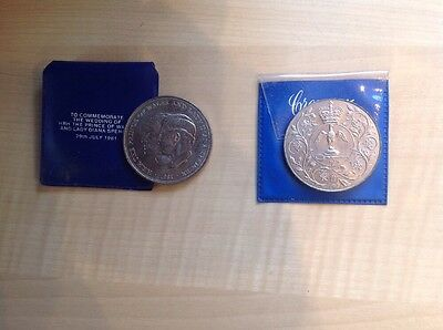 U.K. Royal Mint Coins. Charles And Diana Wedding And 1977 Silver Jubilee