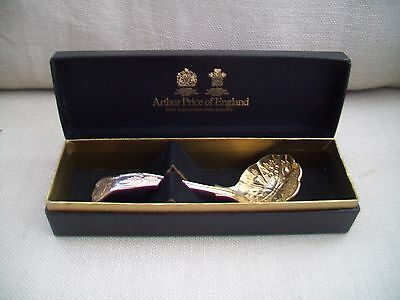 ARTHUR PRICE of ENGLAND, SILVER PLATE SAUCE LADLE,BOXED.