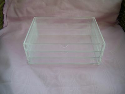Acrylic 3 Drawer Collectors  Box