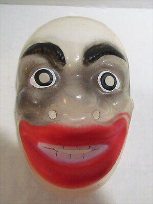 TRANSPARENT CLEAR FACE HALLOWEEN MASK VINTAGE c. 1960's MADE IN WEST GERMANY