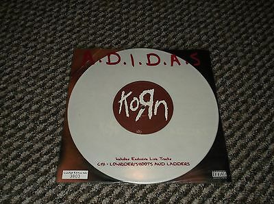 "KORN - ""A.D.I.D.A.S."" 10-inch numbered white vinyl single (nu-metal)"