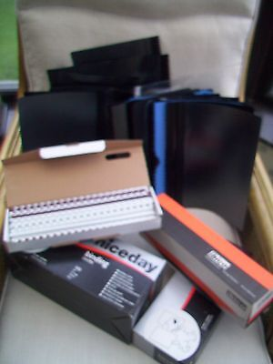 Various Sizes Of Ring Binder Combs, 49 Clear Front Quote Or Presentation Sleeves