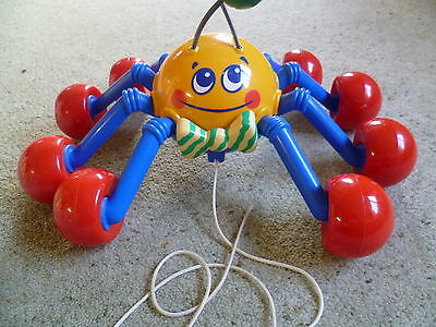 Vintage 1999 Tomy Toys - WEBSTER THE SPIDER - Pull-along Spider
