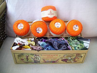 Embroidery Skeins And Crochet Yarn.
