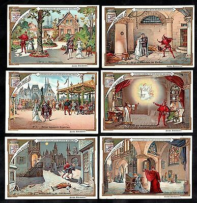 Faust Opera Vintage Victorian Card Set Liebig 1892 Play Theatre Charles Gounod