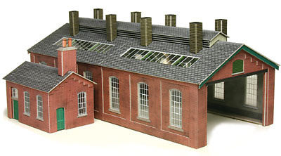 Metcalfe PO213 OO/HO Engine Shed Card Kit for Model Railways