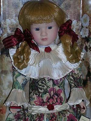 """1991 ANCO 16"""" Special Edition Victorian GENUINE PORCELAIN DOLL - NEW IN ORIG BOX"""