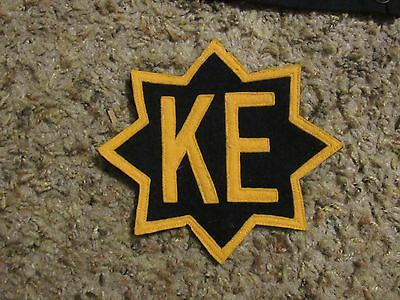 """Vintage  8 point star patch with KE in the middle appox 5 1/2"""""""