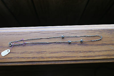 Old Vintage Jewerly Ornate Chain and Knots Necklace Metal Colored Tribal Look