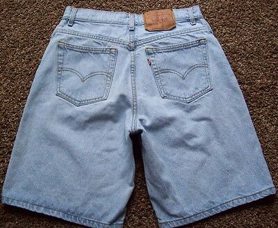 "Womens Vintage Levis 550 Denim Jeans Shorts Size 10 (28"")  XX Label Made In USA"