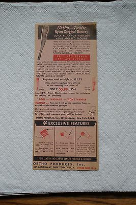 Old Vintage Antique Ortho Lastic Products Nylon Surgical Hosiery Dr Barron Paper