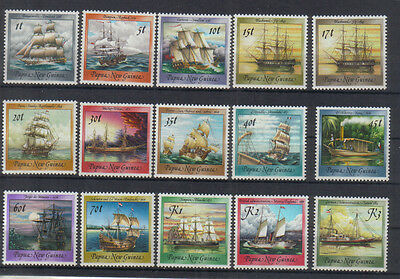 Papua New Guinea 1987-88 Ships set very lightly mounted mint