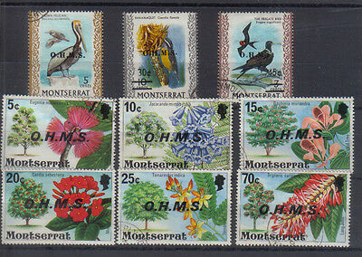 Montserrat 1976-80 Small collection of used Officials