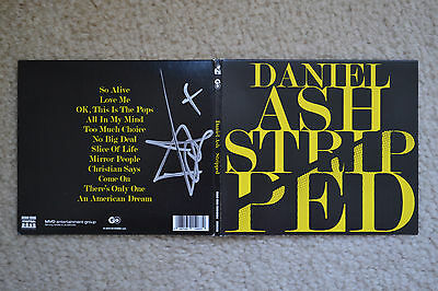 Daniel Ash SIGNED Stripped AUTOGRAPHED bauhaus love and rockets &