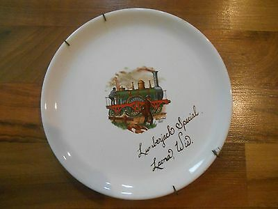 Old Vintage Souvenir Wall Hanging Plate Lumberjack Special Laona Wisconsin